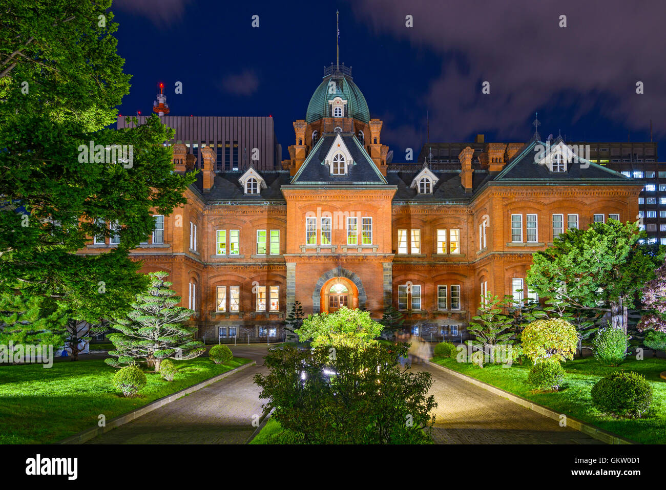 Former Hokkaido Government Office in Sapporo. - Stock Image
