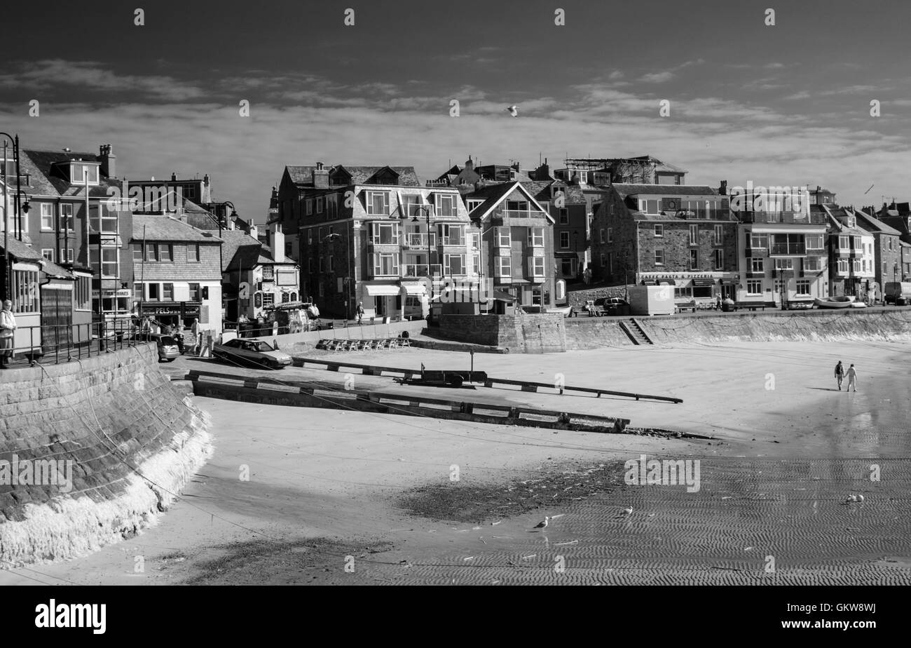 St Ives harbour in infra red number 3601 - Stock Image