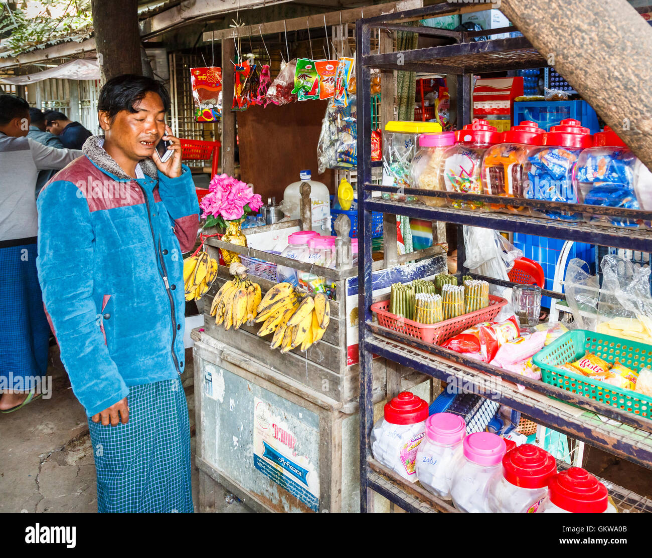 General Store Stock Photos General Store Stock Images: Jade Shop Burma Stock Photos & Jade Shop Burma Stock