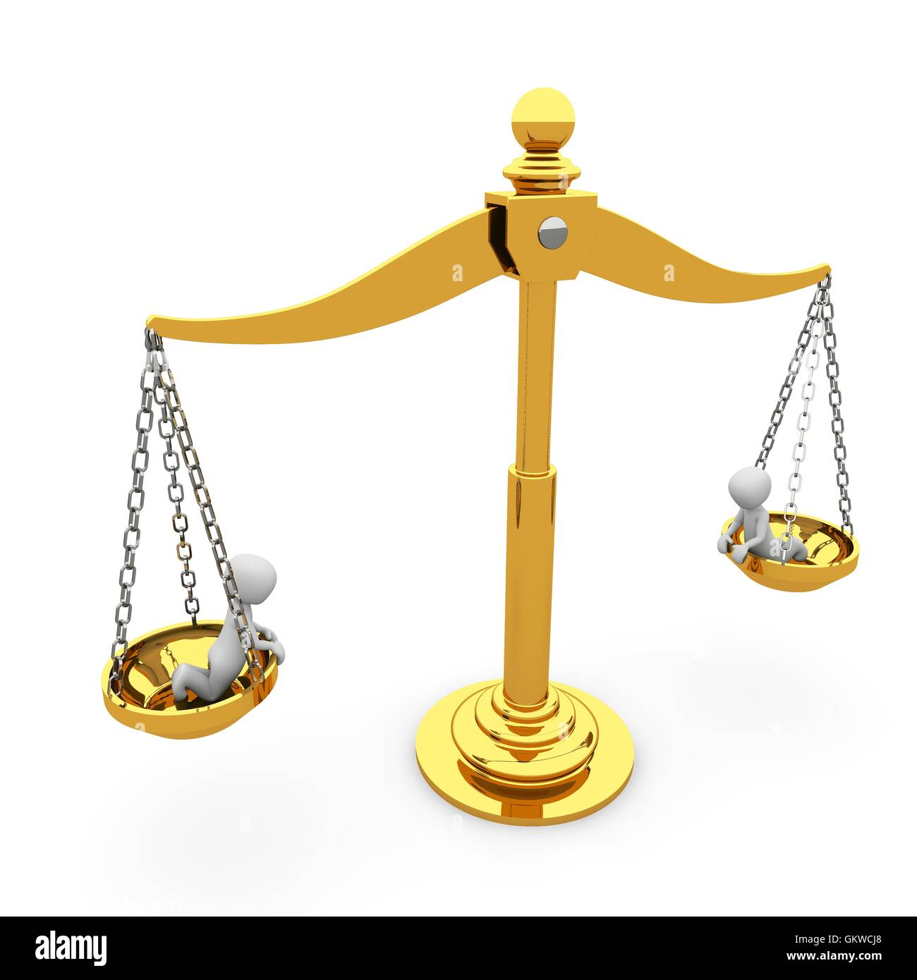 The gold scales of justice - Stock Image