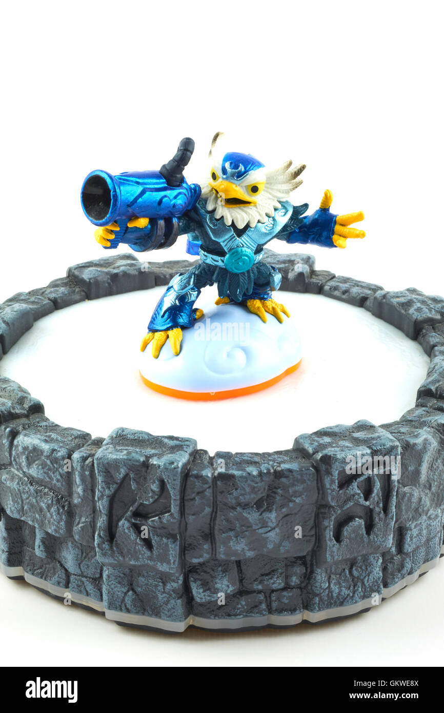 Jet-Vac One Of The Many Characters In The Skylanders Video Game Stock Photo