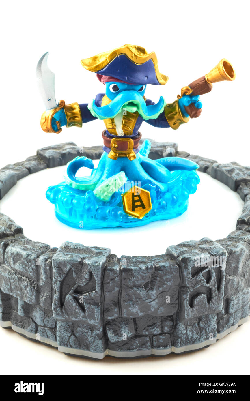 Wash Buckler One Of The Many Characters In The Skylanders Video Game Stock Photo