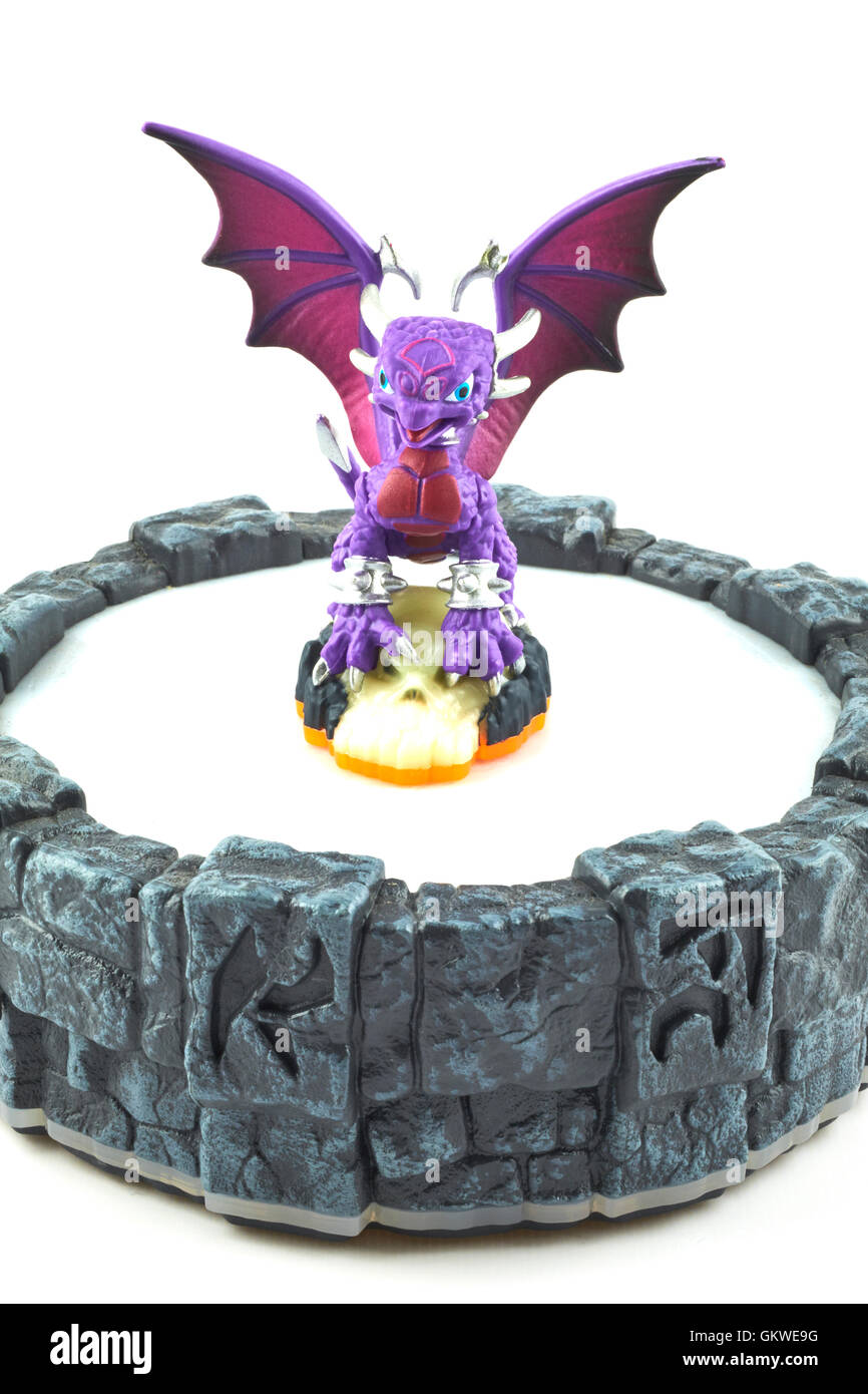 Cynder One Of The Many Characters In The Skylanders Video Game Stock Photo