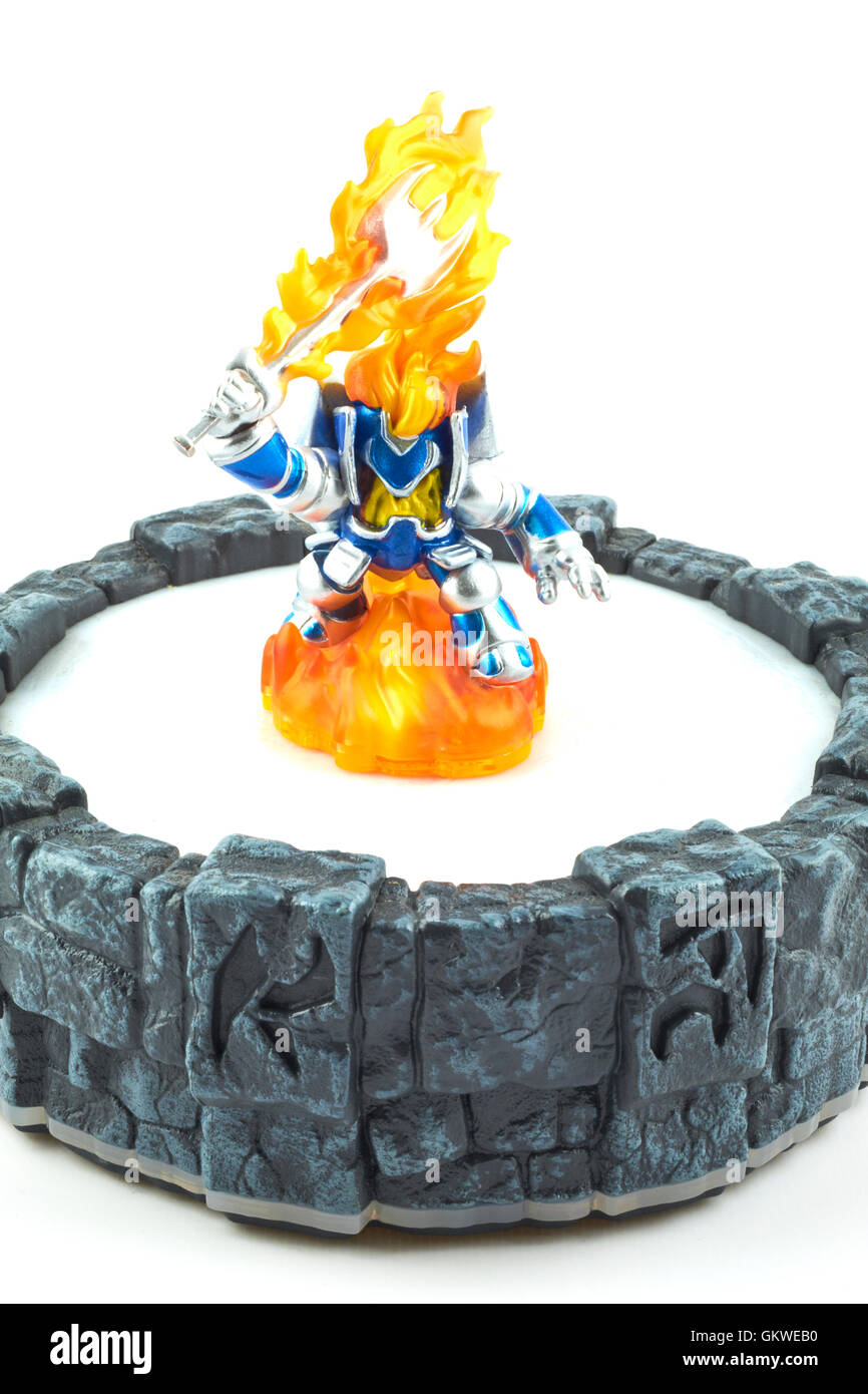 Ignitor One Of The Many Characters In The Skylanders Video Game Stock Photo