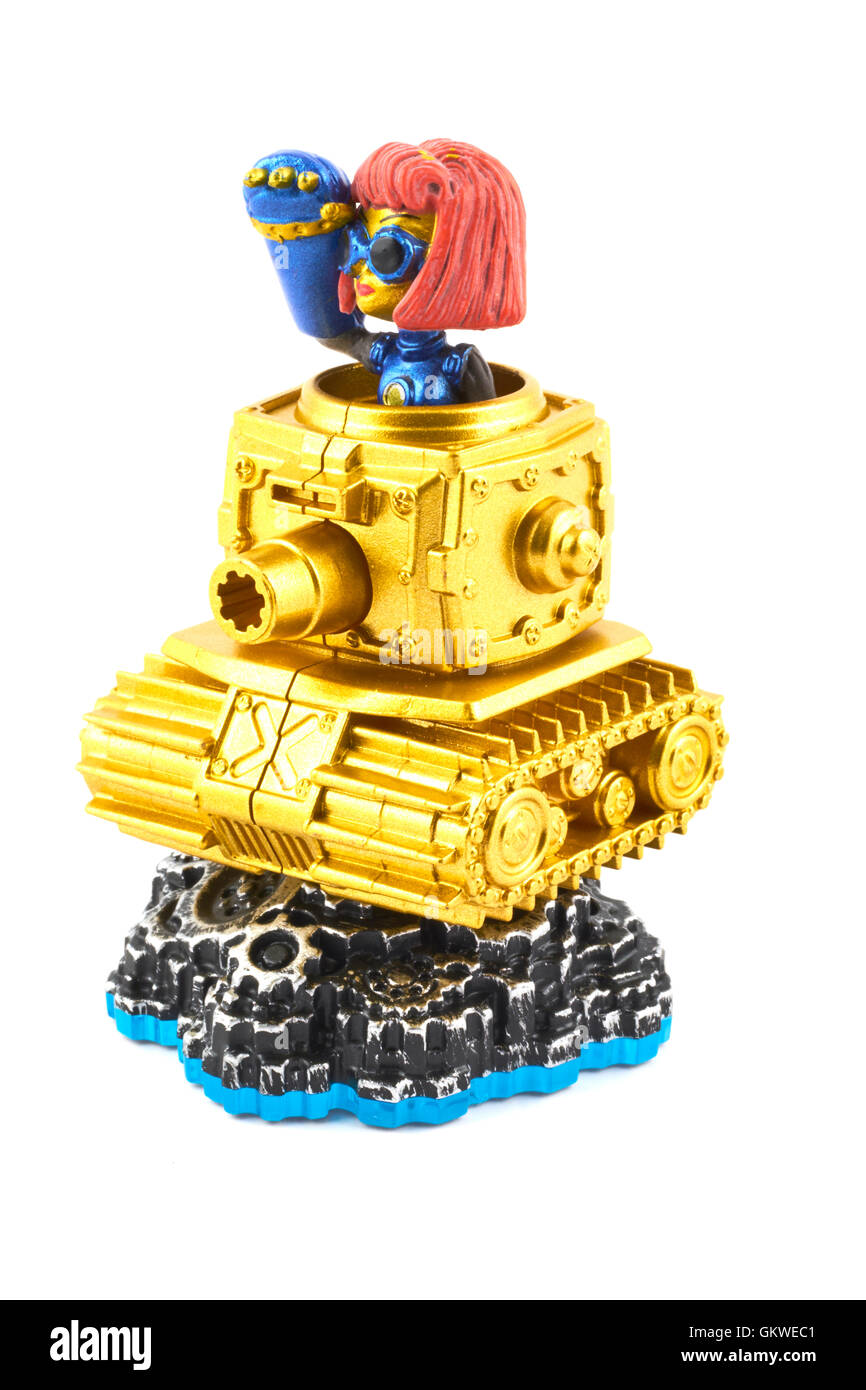 Heavy Duty Sprocket One Of The Many Characters In The Skylanders Video Game Stock Photo