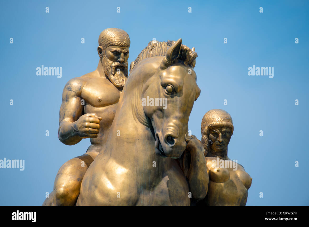 WASHINGTON, DC - The statue depicting Valor that is part of the Arts of War and Peace, a collection of four bronze - Stock Image