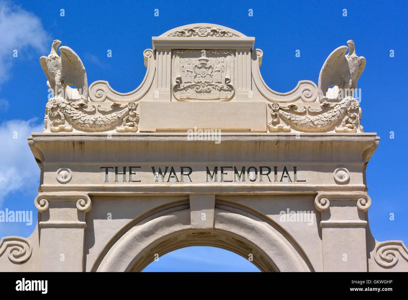 Waikiki Natatorium War Memorial in Honolulu, Hawaii - Stock Image