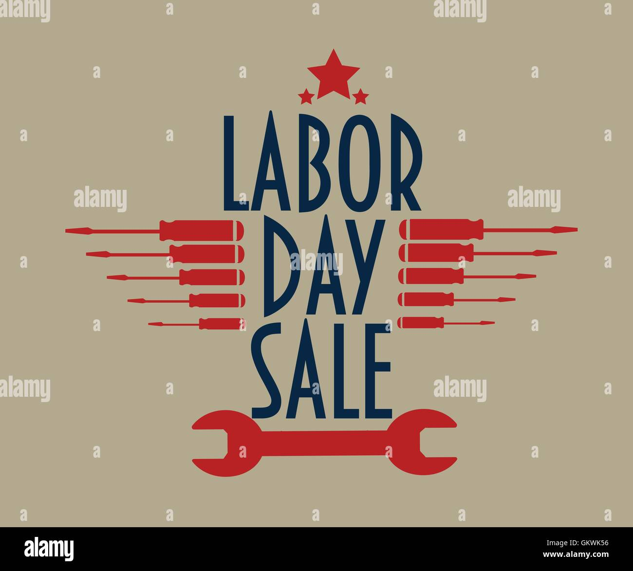 Labor Day Sale Text With A Gold Background Labor Day Promotion Stock Vector Image Art Alamy