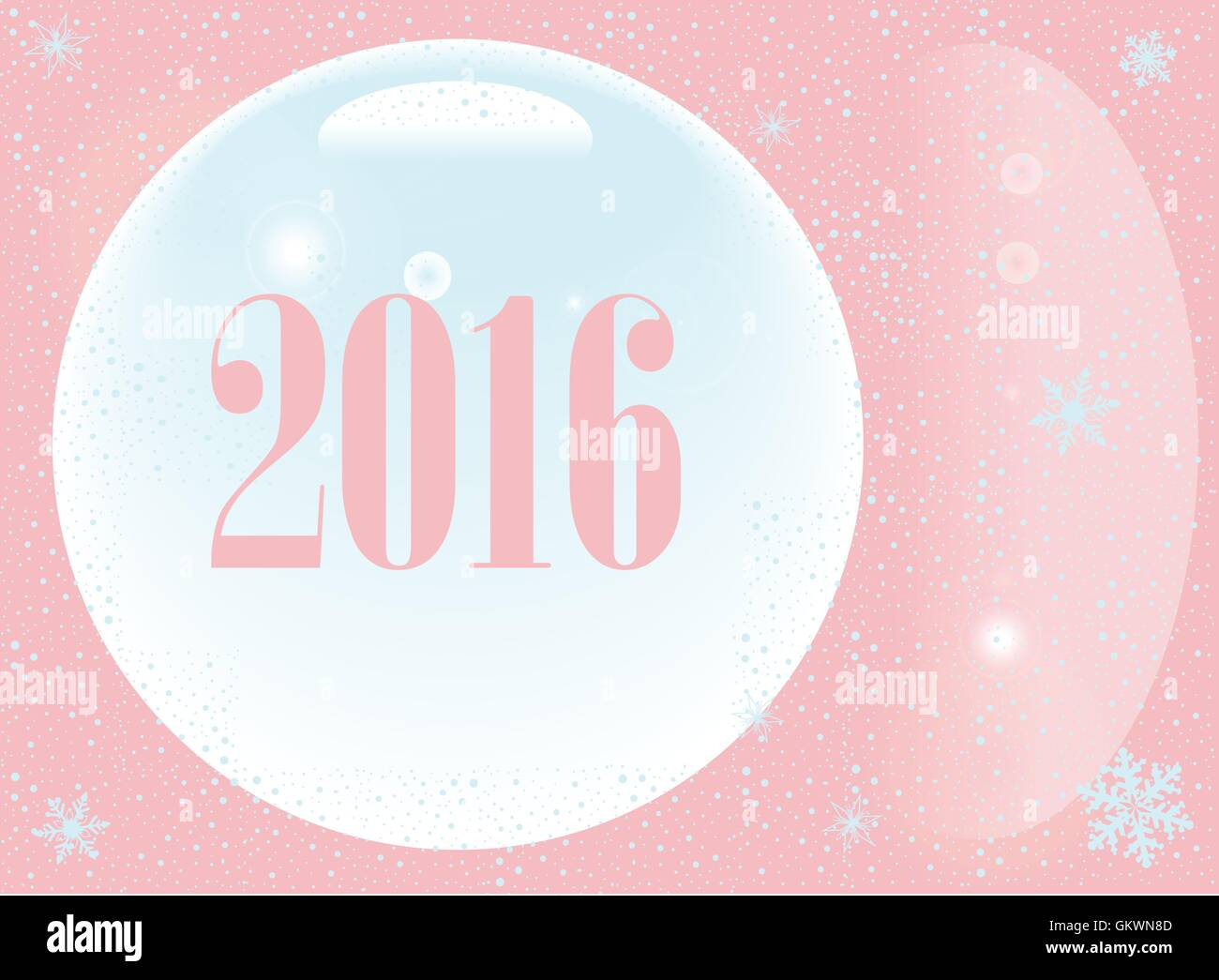 Pink New Year 2016 - Stock Image