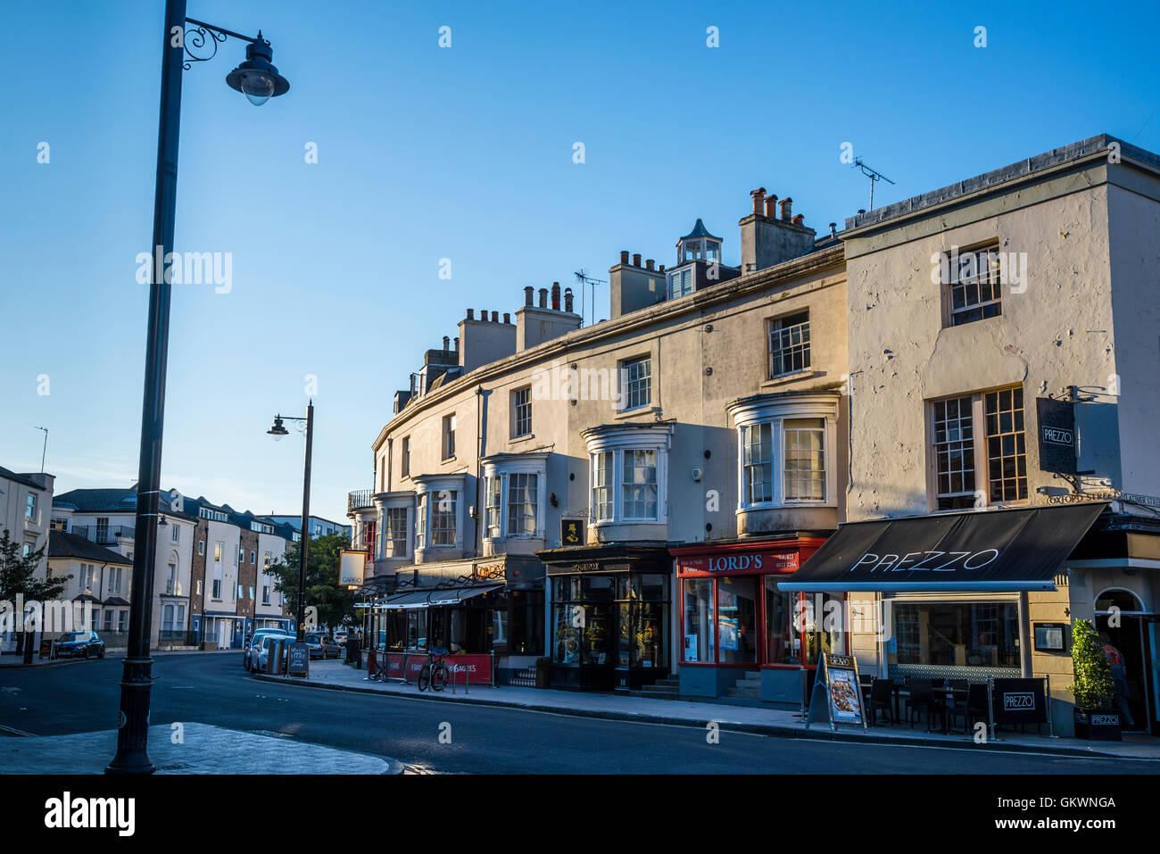 Restaurants in Oxford Street, Southampton, Hampshire, England, UK - Stock Image