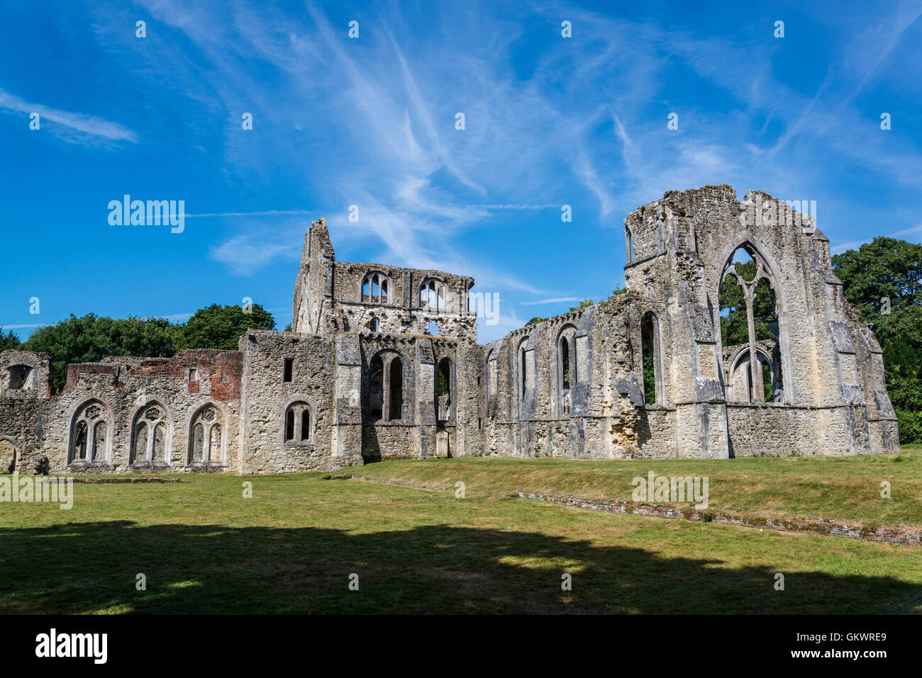 Netley Abbey, a ruined 13th century medieval monastery, near Southampton, Hampshire, England, UK - Stock Image