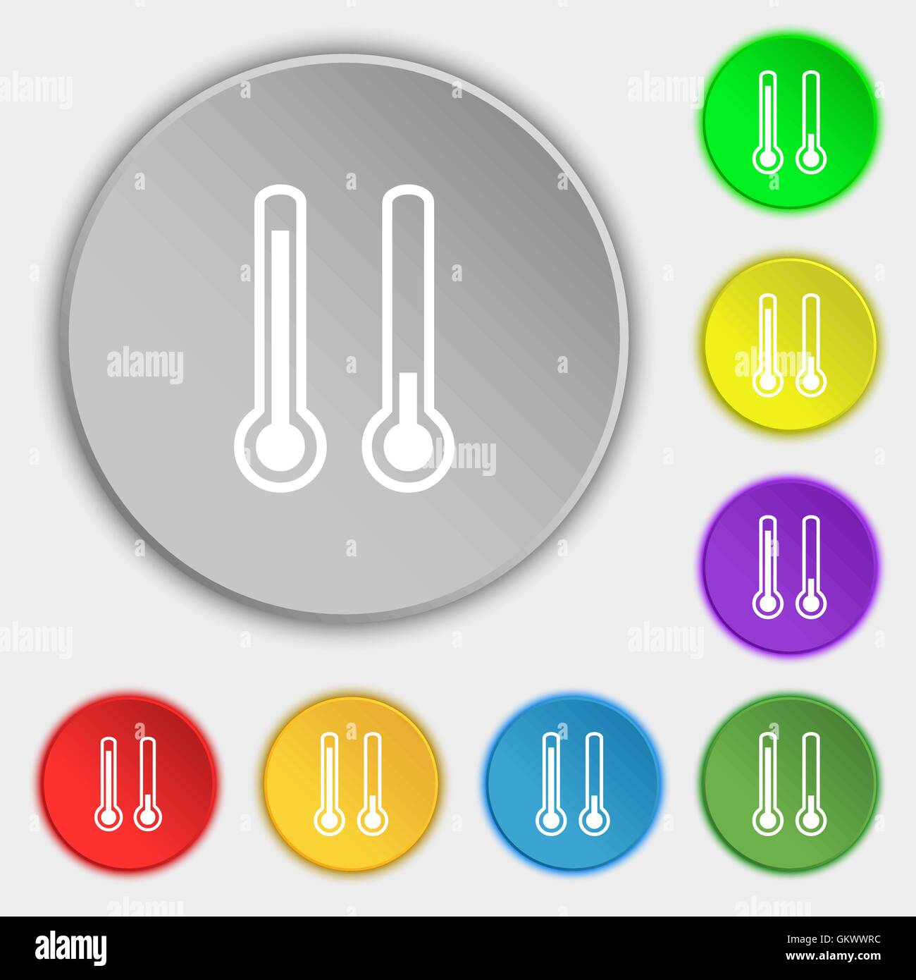 Thermometer Icon High Low Temperature Stock Vector Images - Alamy
