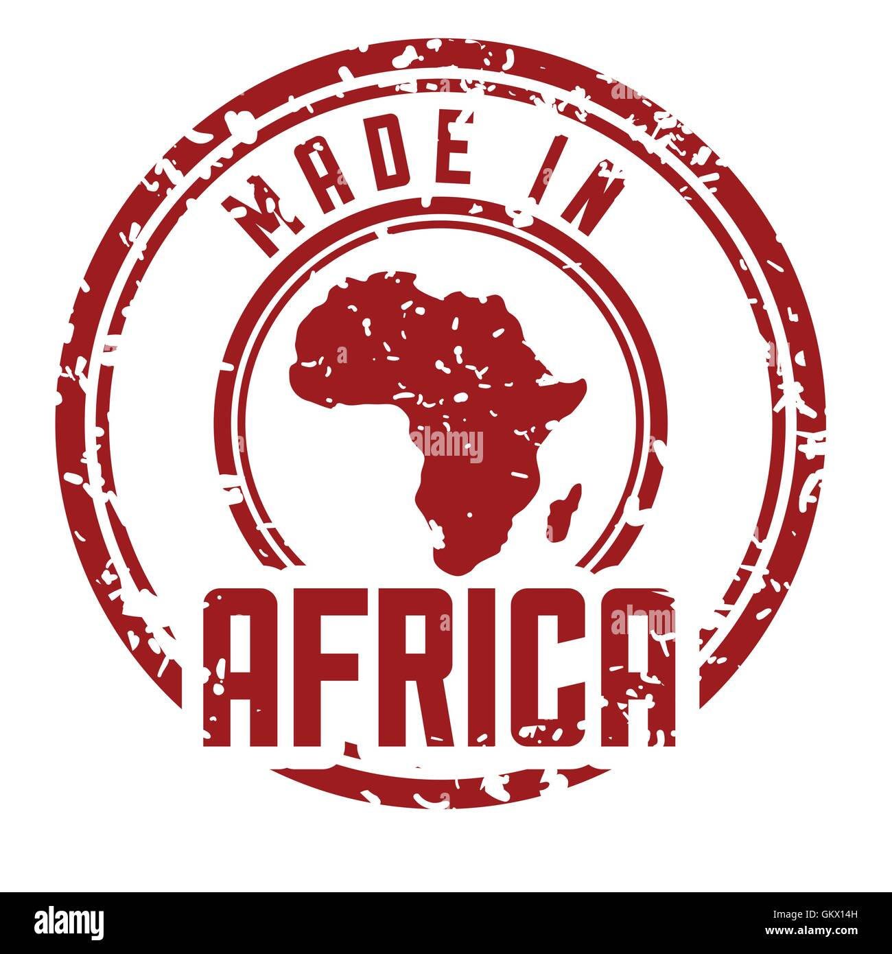 Africa design map shape icon grunge graphic vector Stock Vector