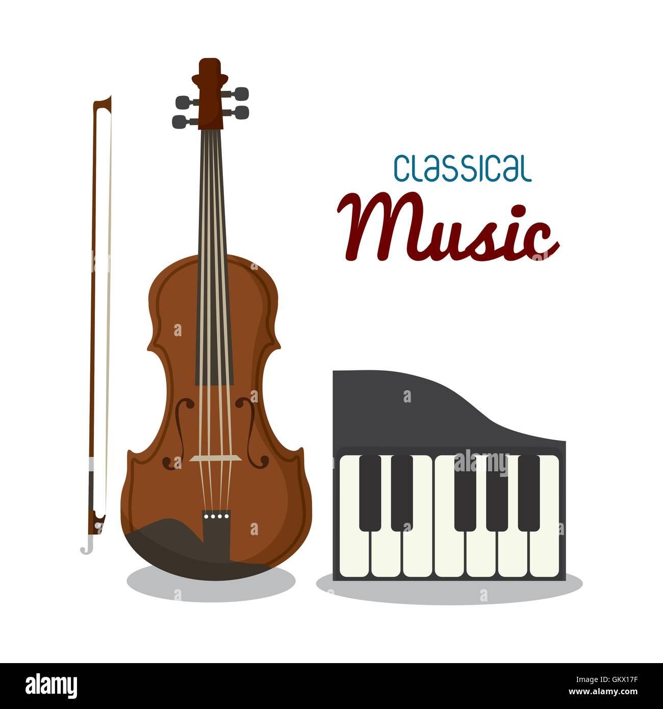 Cello And Piano Icon Music Instrument Vector Graphic