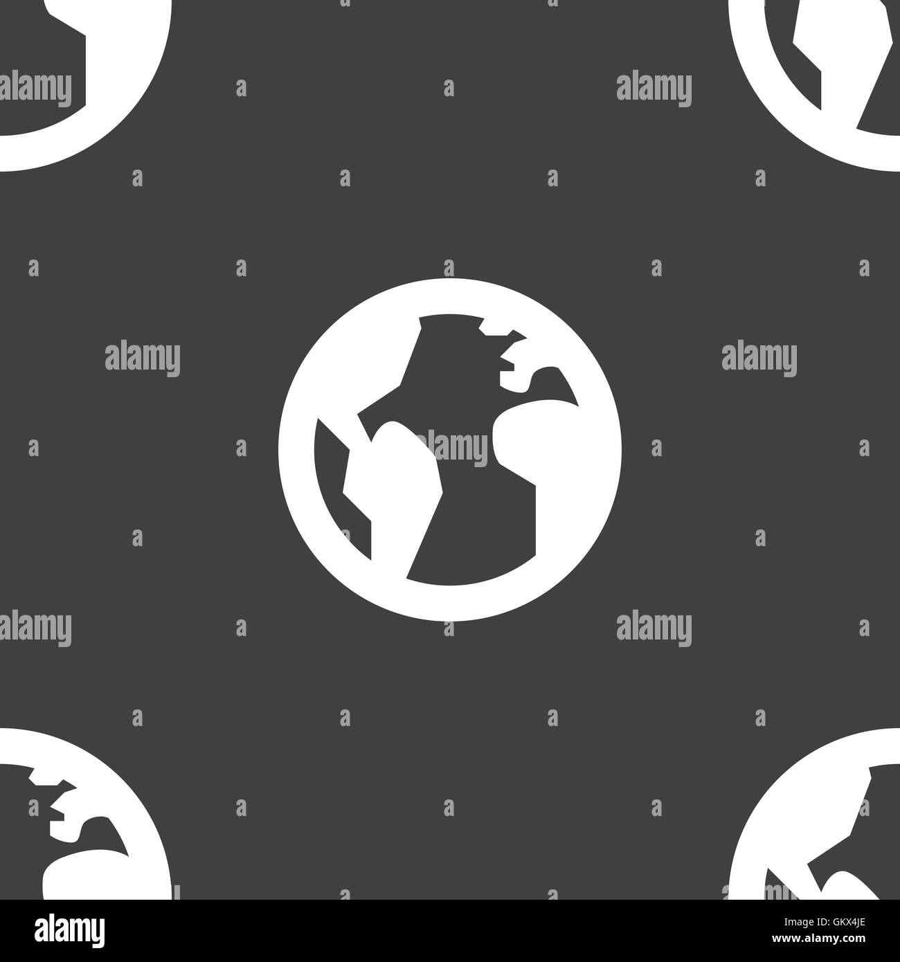 Globe world map geography icon sign seamless pattern on a gray globe world map geography icon sign seamless pattern on a gray background vector gumiabroncs Image collections