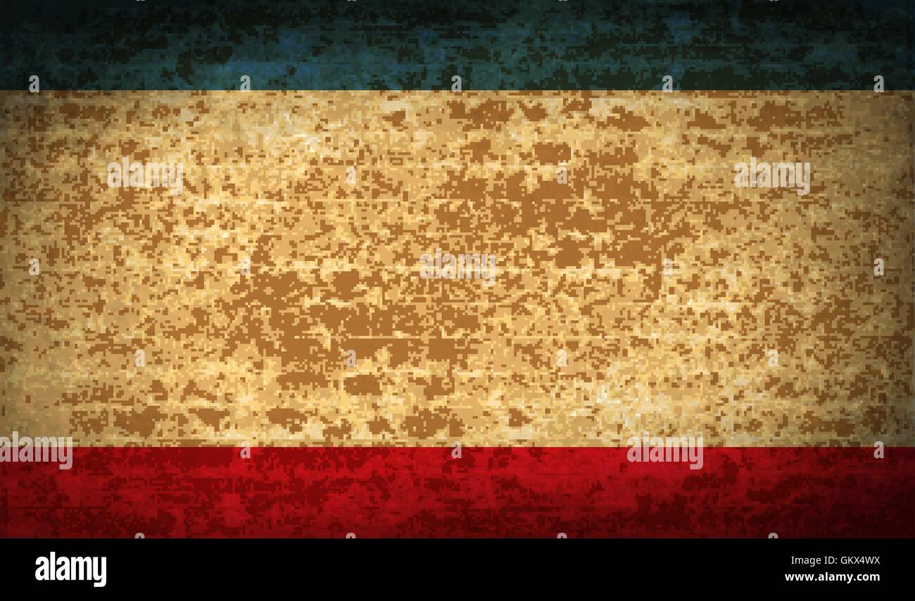 Flags Crimea with dirty paper texture. Vector - Stock Image