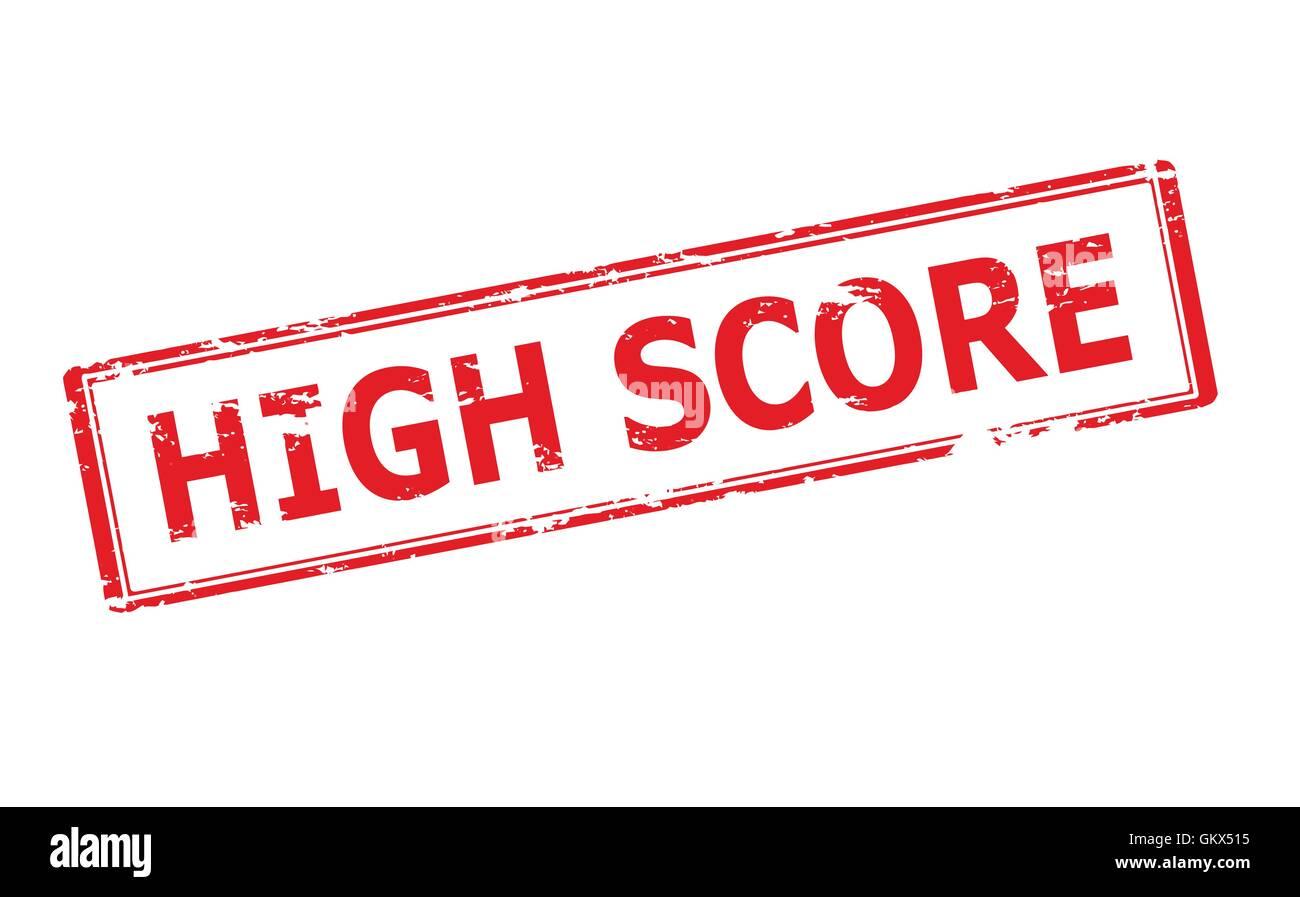 High score - Stock Vector