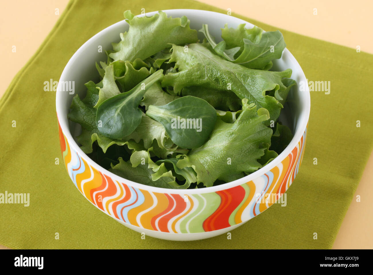 salad in the bowl - Stock Image