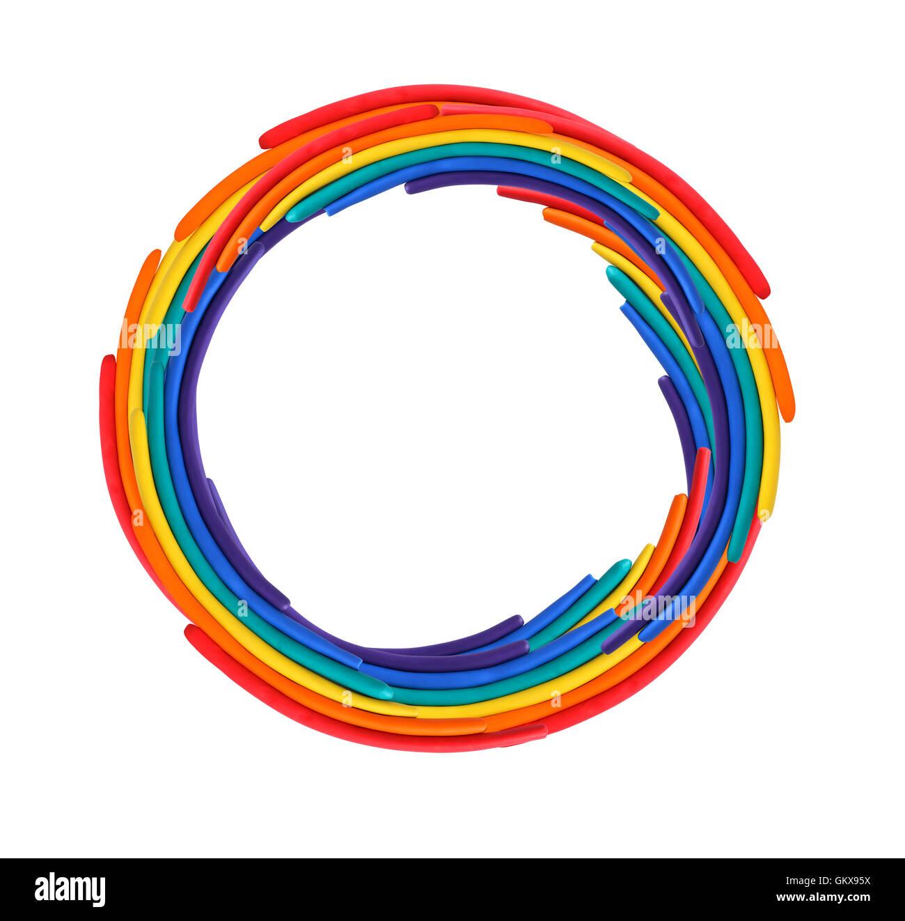 Plasticine Circle - Stock Image