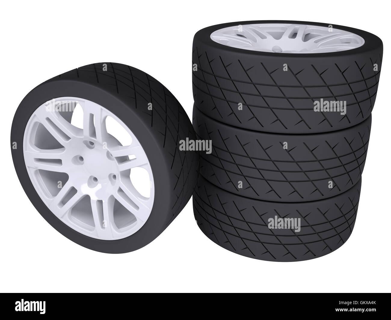 Wheels - Stock Image