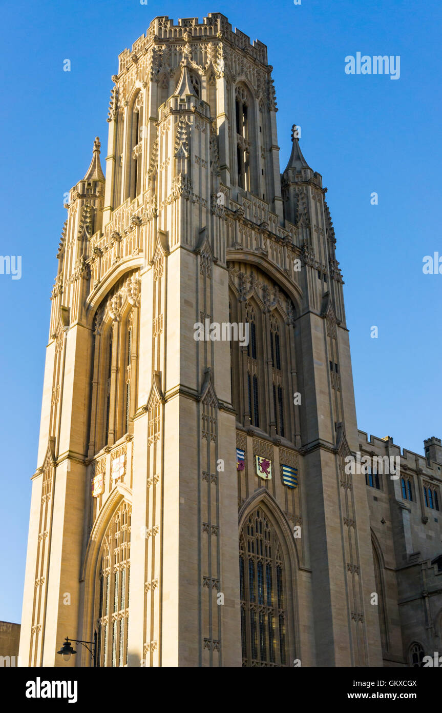 The Wills Tower of the University of Bristol. - Stock Image