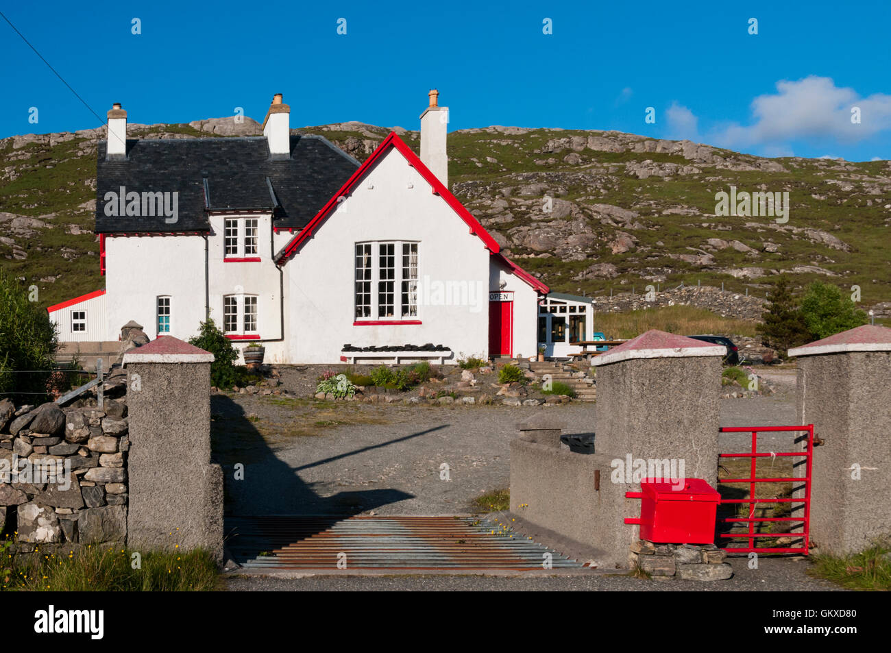 The Loch Croistean Coffee Shop & Restaurant, Uig on the Isle of Lewis. - Stock Image