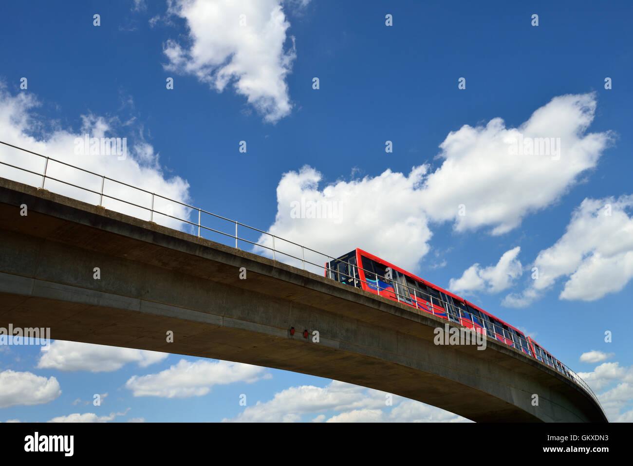 Docklands Light Railway, East London, United Kingdom - Stock Image