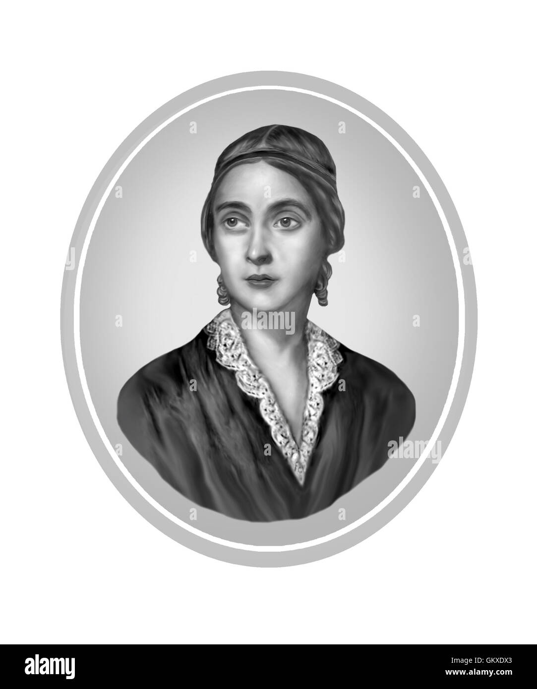 Caroline Norton, 18-8-1877, Writer, Reformer - Stock Image