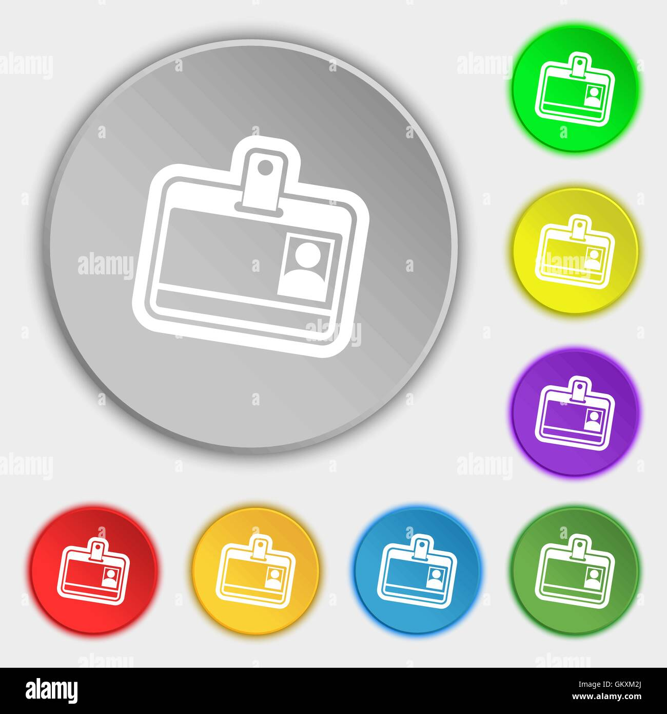 Employee Id Card Icon Vector Stock Vector Images - Alamy