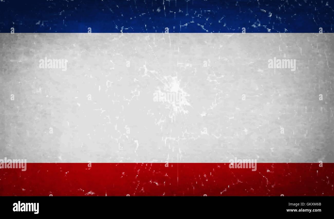 Flags Crimea with broken glass texture. Vector - Stock Image
