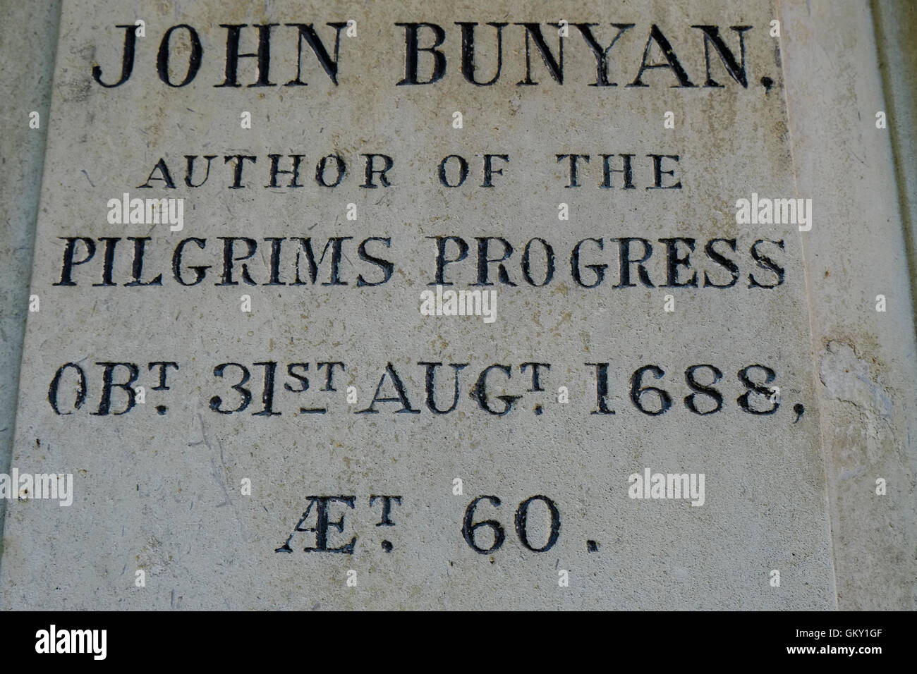Grave of John Bunyan - Stock Image
