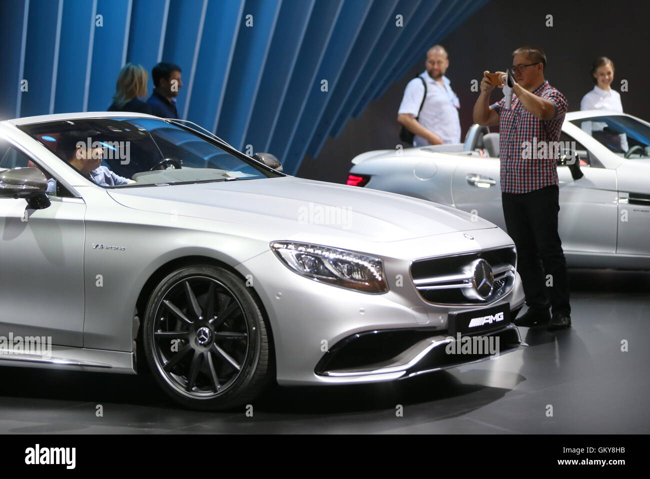 Moscow, Russia. 24th Aug, 2016. A Mercedes-Benz S 63 Cabriolet car on display at the 2016 Moscow International Automobile - Stock Image