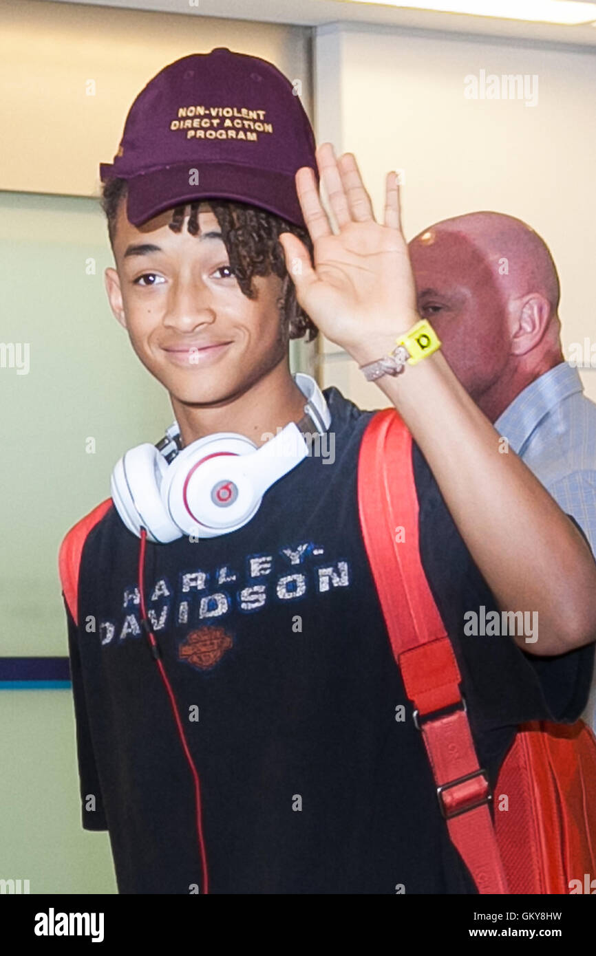 American actor Jaden Smith arrives at Narita International Airport on  August 24 18d22aa256c