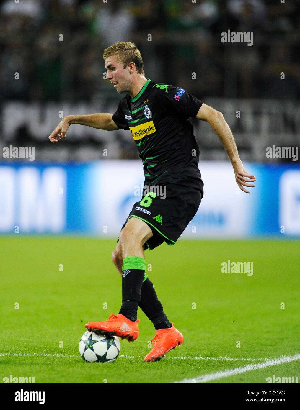 Borussia Park ,Moenchengladbach, NRW, Germany 24.8.2016, UEFA Champions League Qualification, 2016/17, Play-off, - Stock Image