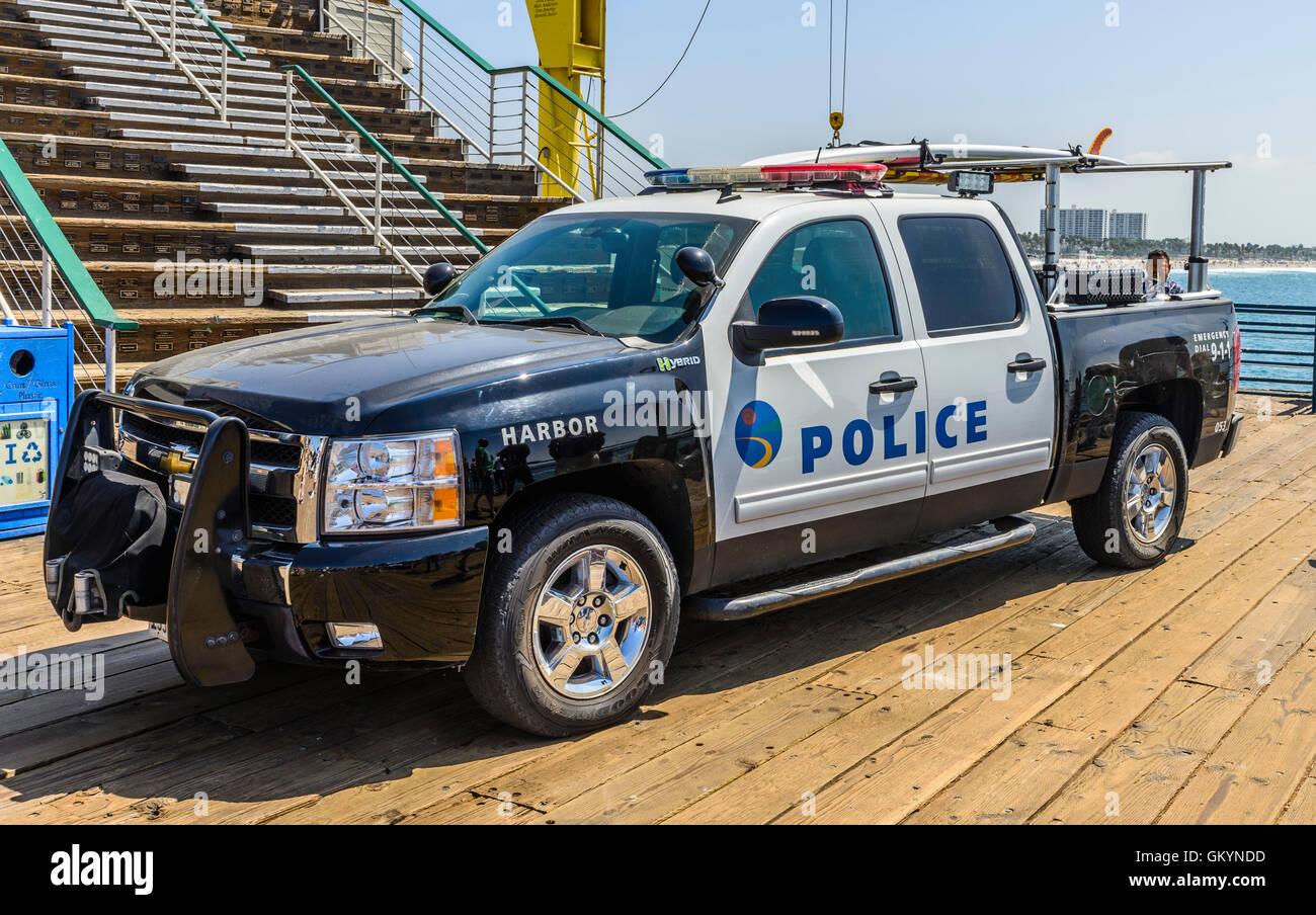 Police Car Santa Monica California Stock Photos & Police Car