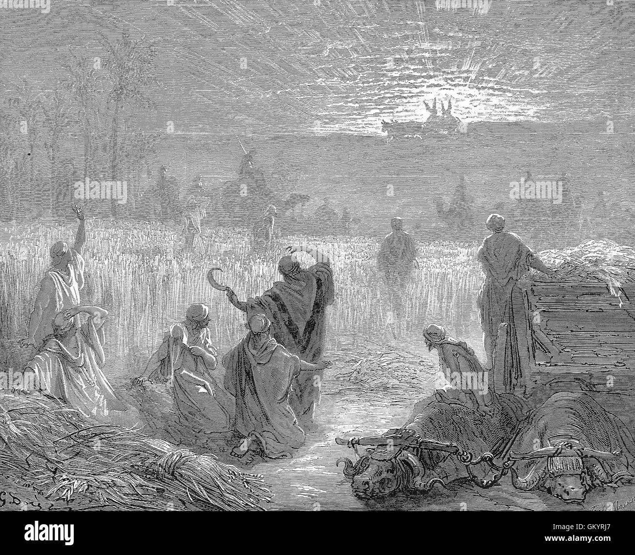 Stone Of Abel Beth Shemesh: Ark Of Covenant Bible Stock Photos & Ark Of Covenant Bible
