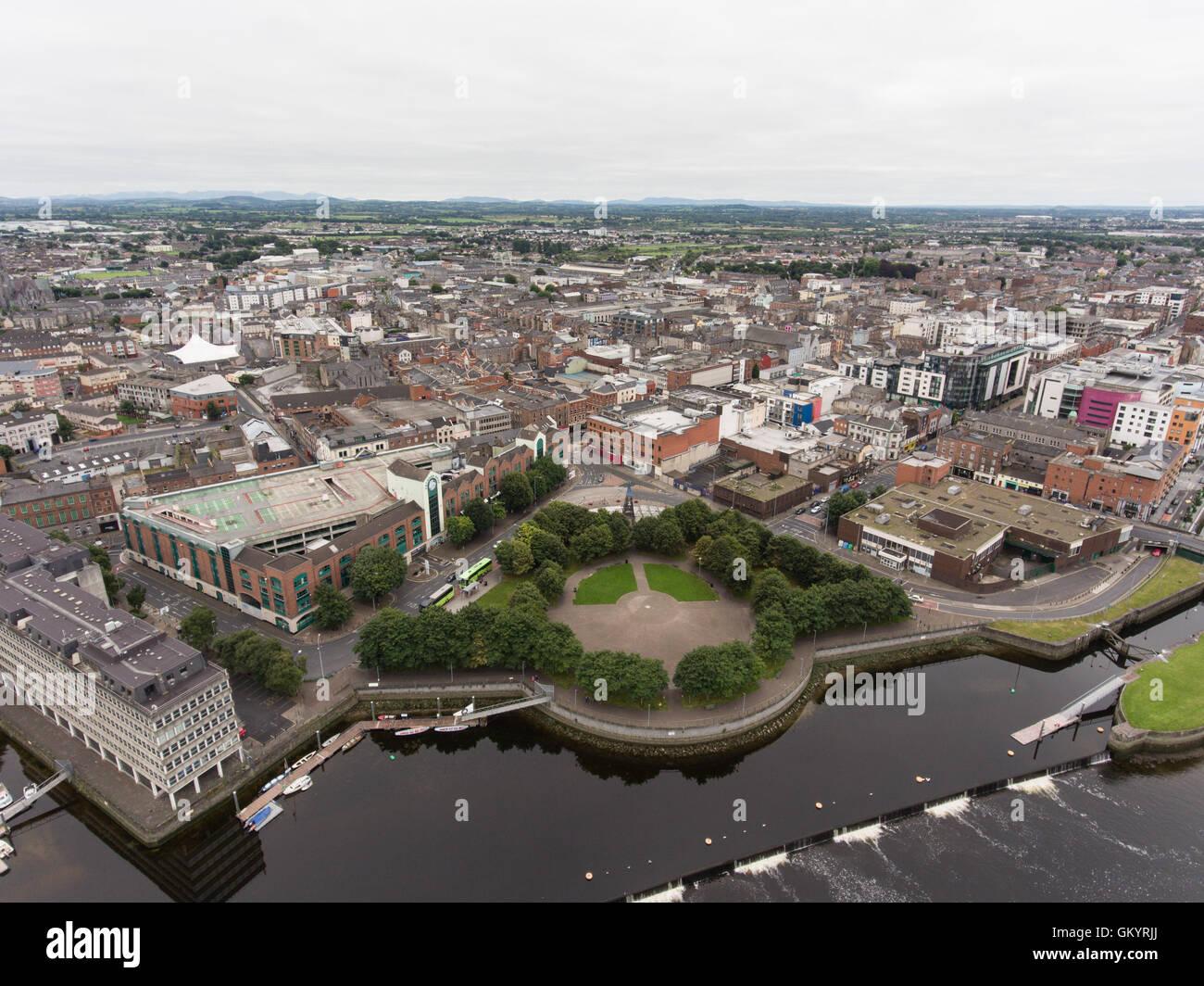 aerial view cityscape of limerick city skyline ireland stock photo