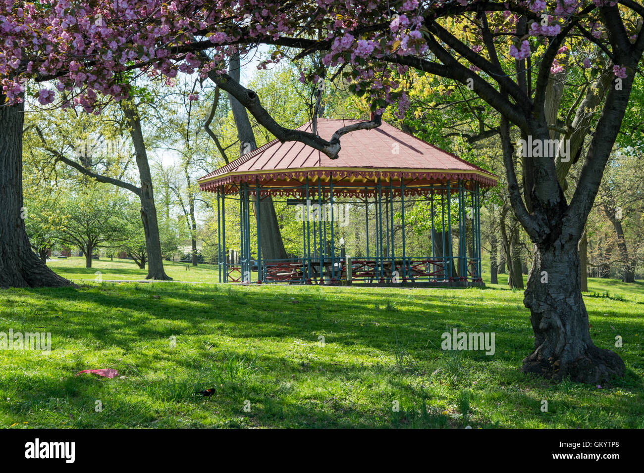 Landscape of Druid Park in Baltimore, Maryland - Stock Image