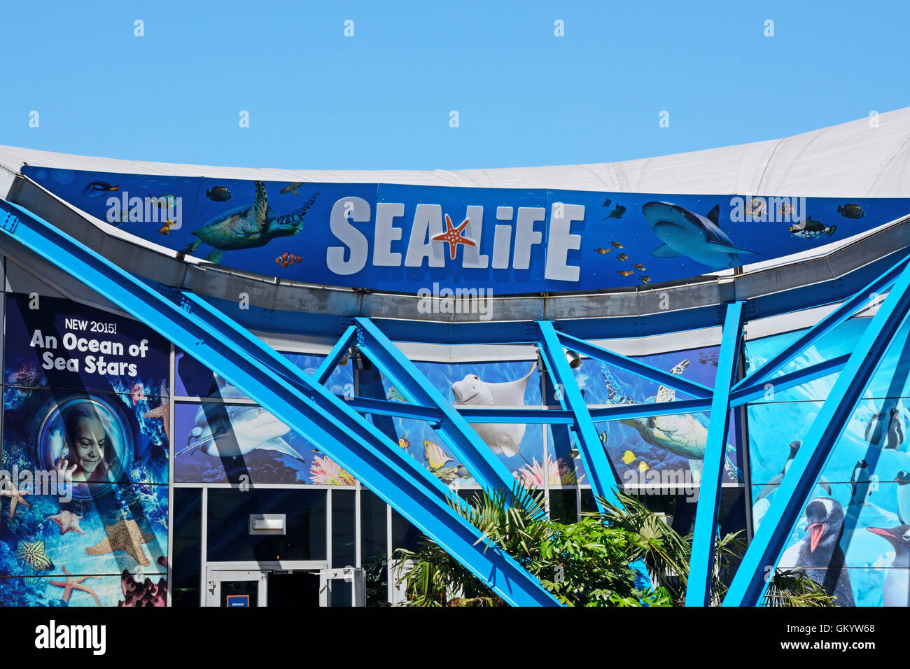 Front view of the National Sea Life Centre, Birmingham, England, UK, Western Europe. - Stock Image