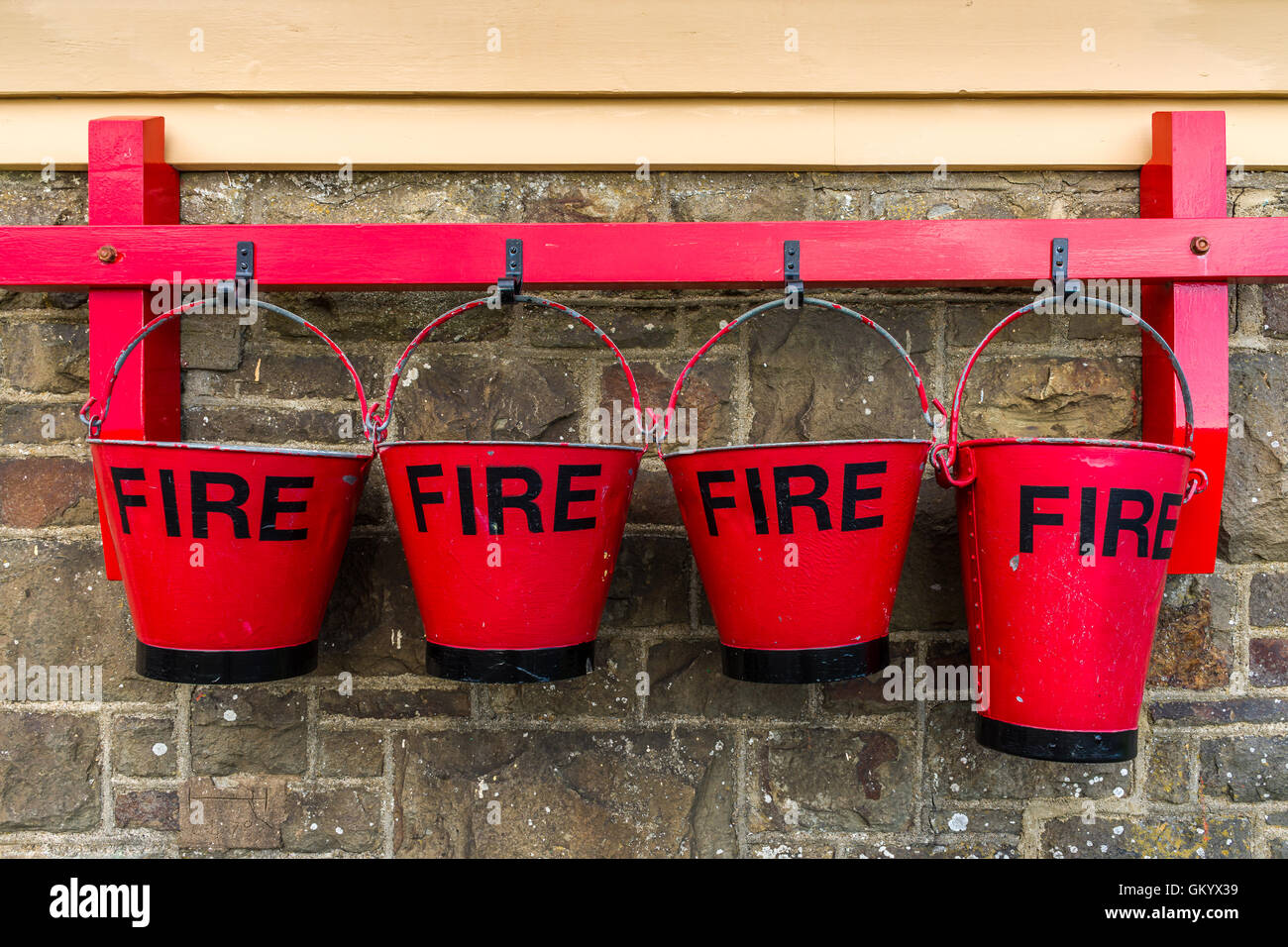Fire Buckets - Stock Image