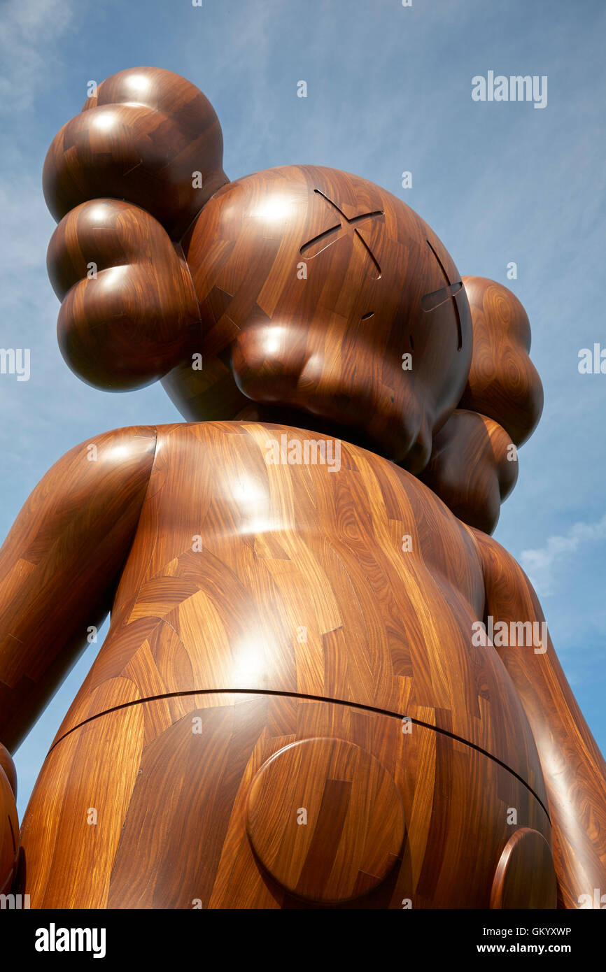 4b7cf7dd Kaws Good Intentions wooden sculpture in the Yorkshire Sculpture Park YSP