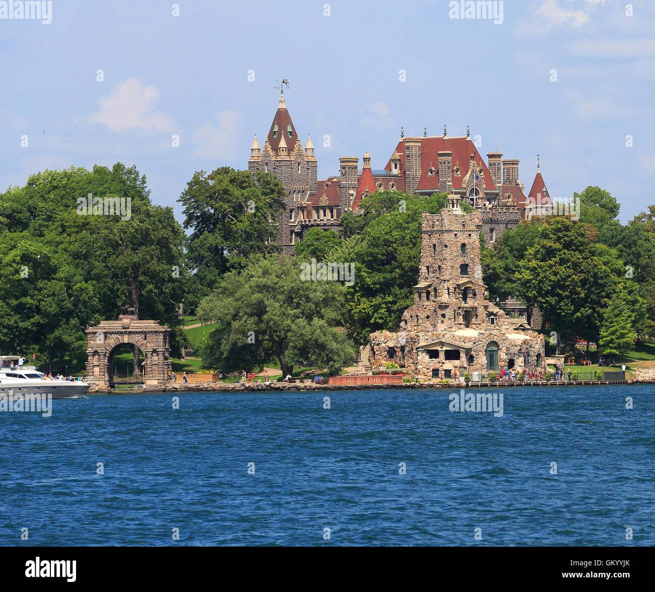 Boldt Castle in Heart Island, Thousand Islands - Stock Image