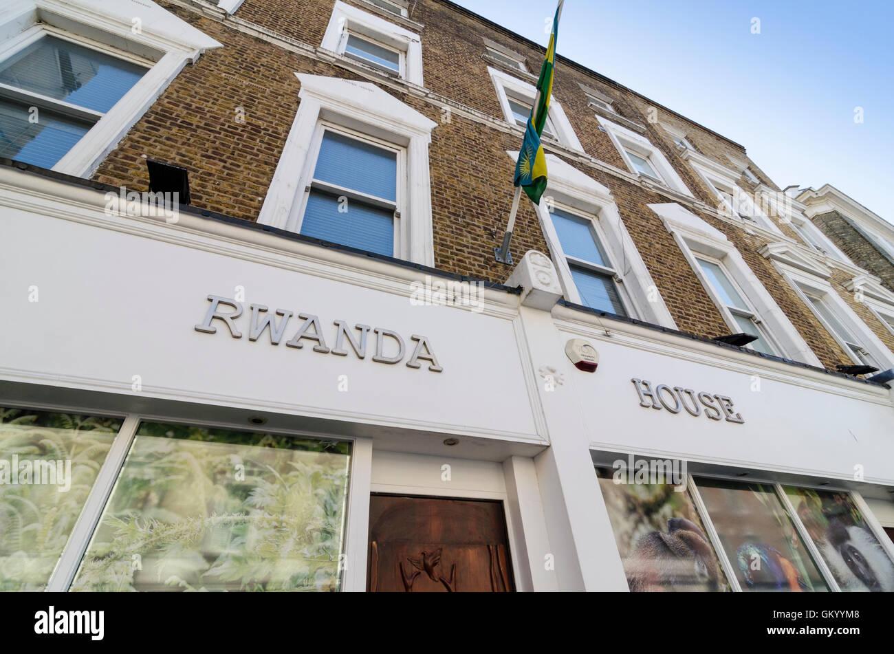 Rwanda House, London, UK - Stock Image