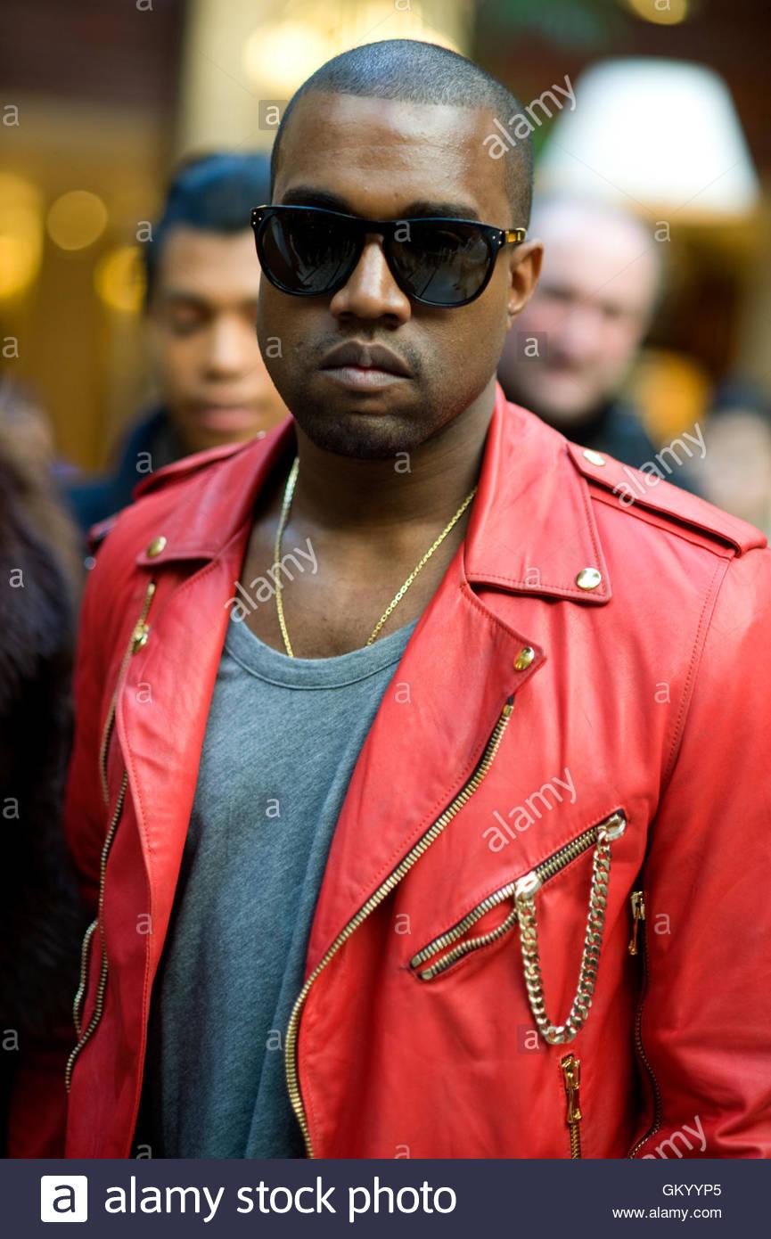 Kanye West. attending Balmain during Paris Fashion Week, at the Grand Hotel, Paris, March 2011. - Stock Image