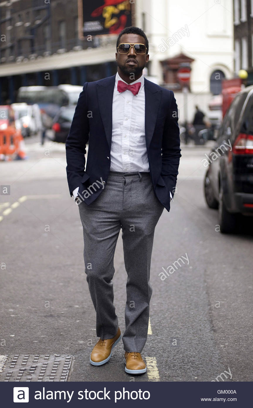 Kanya West Hip hop artiste and producer in Covent Garden for London Fashion week, February 2009. - Stock Image