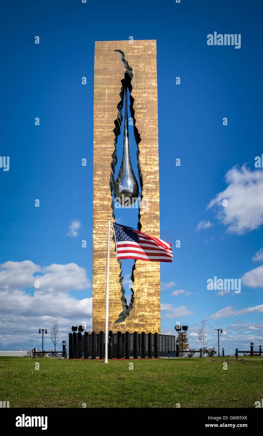 Tear Drop Memorial in Bayonne, New Jersey - Stock Image