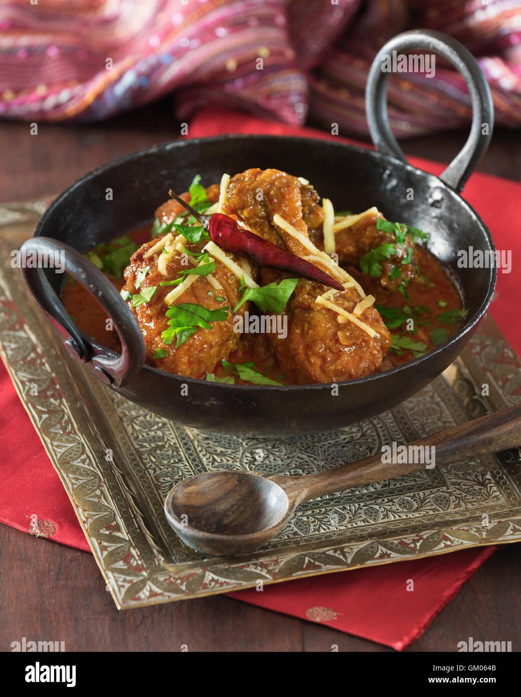 Kadai chicken  Karahi murgh  Food India Pakistan Stock Photo