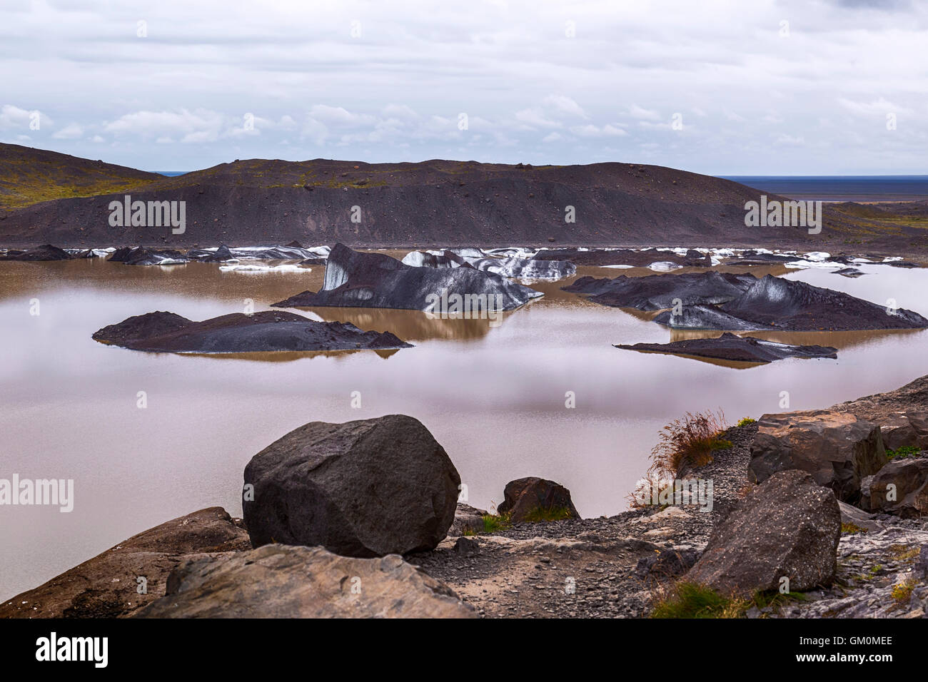 Svinafellsjokull, Vatnajokull, glacier, Iceland - Stock Image