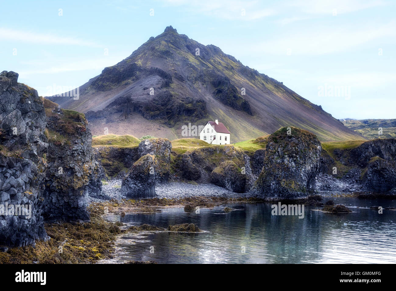 Arnastapi, Hellnar, Snaefellsnes, Iceland - Stock Image
