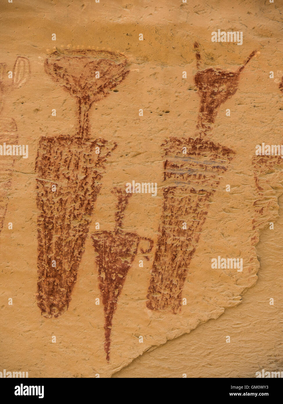 Carrot Men pictograph site, County Road 23 South of Rangely, Colorado. - Stock Image